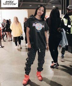 teyana taylor in snap track pant // Skater Girl Outfits, Tomboy Outfits, Chill Outfits, Swag Outfits, Trendy Outfits, Cute Outfits, Black Girl Fashion, Tomboy Fashion, Fashion Killa