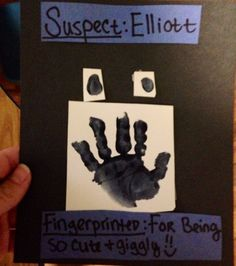 Made this for community helper week for infants art police officer project :]