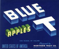 1920S ORIGINAL APPLE CRATE STOCK LABEL CALIFORNIA WASHINGTON OREGON VINTAGE