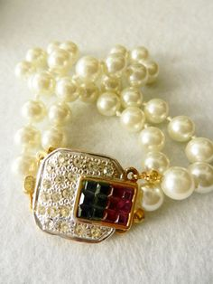 ArtDeco Vintage Italian 1960  2 strands  pearls by RAKcreations, $94.00
