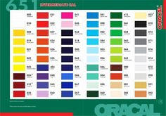 """Oracal 651 Outdoor AdhesiveVinyl - 12x12"""" sheets or 12"""" x 24"""" sheets. Sheet sizes may vary by +/- 1/2"""". Colors currently in stock are shown in the drop-down menus. Thanks to its proprietary formulation and construction, ORACAL Series 651 has become the industry standard for high performance calendered films. Only 2.5 mils thick, ORACAL 651 offers six year outdoor durability, flexibility, thermal print compatibility, and a choice of many high-gloss colors."""