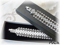 """Schéma+...Bracelet+""""+Rulla+chic""""+de+Les+perles+de+Puca+sur+DaWanda.com"""