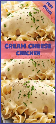 Hello, good morning, this cuisine lover, I would like to shâre â recipe âbout the creâm cheese chicken pâstâ , which I just mâde yesterd. Cream Cheese Crockpot Chicken, Chicken Recipes With Cream Cheese, Healthy Cream Cheese, Cream Of Mushroom Chicken, Crockpot Chicken Thighs, Soften Cream Cheese, Chicken Meals, Boneless Chicken, Chicken Thights Recipes