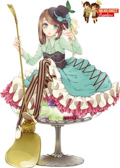 Fruits Anime Girl -Render- by HikariGhost on DeviantArt