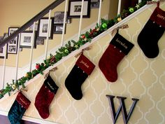 How awesome is the picture arrangement going up the stairs?!