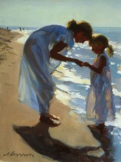 """Beach Treasures"" by Jeffrey T. Larson CRAZY- I know Jeff and the people in the painting! Art And Illustration, Figure Painting, Painting & Drawing, Pics Art, Beach Art, Beautiful Paintings, Oeuvre D'art, Love Art, Painting Inspiration"