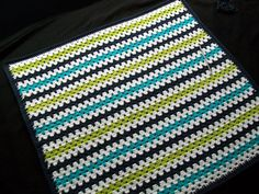 Written directions for adding cloth backing to crocheted blanket