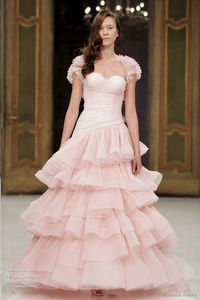 Pretty and Lovely Pink Wedding Dress