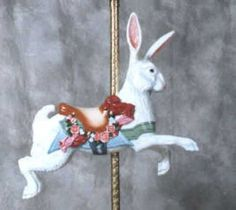 And a carousel rabbit for my son who likes rabbits...
