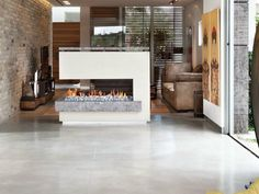 Gas 3-sided fireplace with panoramic glass PENISOLA 120 by BRITISH FIRES