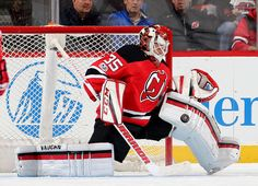 NEWARK, NJ - JANUARY 09: Cory Schneider #35 of the New Jersey Devils stops a shot in the second period against the Florida Panthers on January 9, 2017 at Prudential Center in Newark, New Jersey. (Photo by Elsa/Getty Images)
