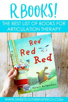 R Book List Articulation Therapy - Sweet Southern Speech Articulation Therapy, Articulation Activities, Speech Therapy Activities, Language Activities, Learning Activities, Speech Language Therapy, Speech Language Pathology, Speech And Language, Rosie Revere Engineer