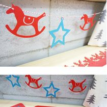 Christmas and New Year decorative ornaments Trojan stars decorate the children's room will be arranged in the company's annual party supplies