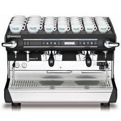 Classe 9 commercial espresso machine is an excellent choice for busy drive-thru coffee stands with high volume espresso beverage output. Espresso Machine Reviews, Automatic Espresso Machine, Commercial Coffee Machines, Commercial Espresso Machine, 2 Coffee Tables, Coffee Stands, Coffee Club, Coffee Shop, Gourmet Cafe