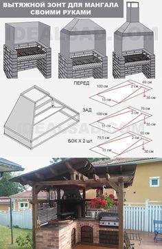Outdoor Grill Area, Outdoor Barbeque, Outdoor Kitchen Patio, Outdoor Kitchen Design, Backyard Pavilion, Backyard Patio Designs, Backyard Projects, Barbecue Design, Grill Design