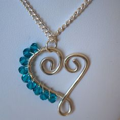 Beautiful!  Hand formed heart necklace.