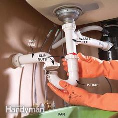 How to Unclog a Sink   Sink drain, Sinks and Tool belt