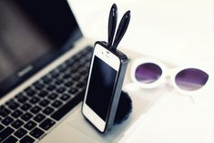 bunny iphone case complete with adorable tail