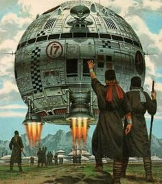 Off We Go by peterpulp on DeviantArt Space Fantasy, Sci Fi Fantasy, Perry Rhodan, Spaceship Interior, Concept Ships, Mecha Anime, Sci Fi Books, Science Fiction Art, Fantasy Landscape