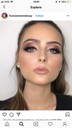 Blue eyes and pink lipstick - Make up - Blue Dress Makeup, Nude Makeup, Pink Makeup, Blue Eye Makeup, Glam Makeup, Beauty Makeup, Asian Makeup, Crazy Makeup, Colorful Makeup