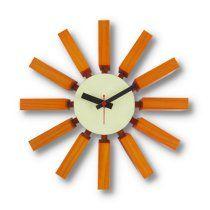 11.5 in. Block Wall Clock - Orange via the Foundary PRICE: $55.00