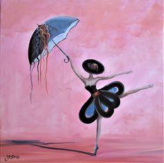 danseuse huile sur toile signée christophe gastaldi