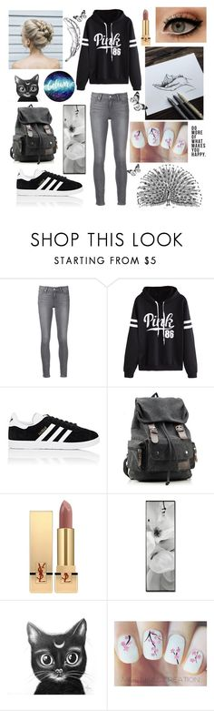 """I'm jealous of my parents, i'll never have a kid as cool as theirs. 😎"" by eliskiku ❤ liked on Polyvore featuring Paige Denim, WithChic, adidas, Yves Saint Laurent and Native State"
