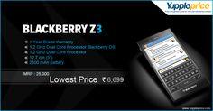 Shop #BlackberryZ3 online at the lowest rate ever! Hurry! #Offer till stock last! #onlineblackberrymobile