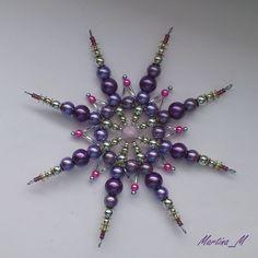Vánoční hvězda XVI fialovostříbrná