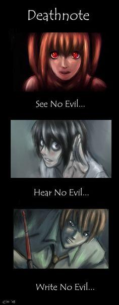 Deathnote: No Evil by *Elocinaqui on deviantART