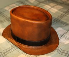 How to Make a Leather Hat | While not a beginner tutorial, the instructions include myriad resources to quickly get basic leatherworking training.