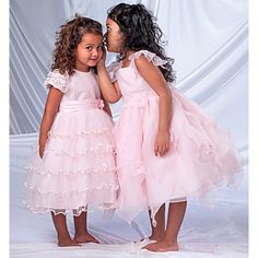 Little Whispers - Sarah Louise - Pink Girls Dress - Designer Party Dress -
