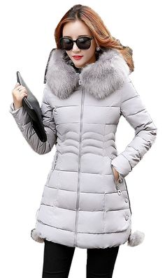 Women Plus Size Fur Hooded Slim Zip Quilted Coat -- Wow! Check it out now! : Plus size coats Plus Size Coats, Fashion Brands, Hoods, Topshop, Winter Jackets, Fur, Slim, Check, Stuff To Buy
