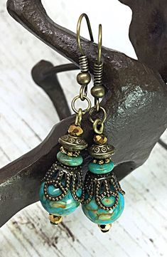 Turquoise Earring Hippie Earring Boho Chic by TheaDesignConcepts More