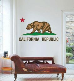 California Republic Wall decal by StreetWallz on Etsy, $85.00