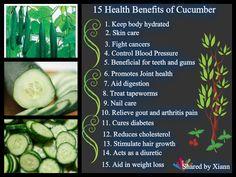Benefits of Cucumber Juice   15 health benefits of cucumber :