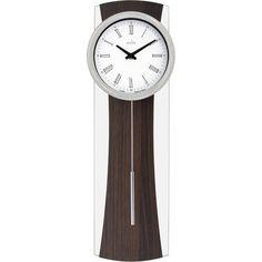 Cropthorne Glass/Walnut Finish Pendulum Wall Clock 50cm