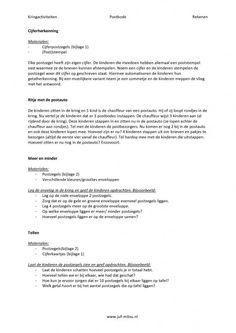 Kringactiviteiten ~ postbode ~ rekenen Pdf, How To Plan, Image