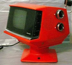 retro mod Orange Sharp Television