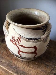 viking rune stones/pottery/doubled eared/vase/studio pottery/Swedish/Lillterrsjö Keramik/Hällristning/Lind design/viking carvings by WifinpoofVintage on Etsy I Shop, My Etsy Shop, Rune Stones, Stone Age, Stone Carving, Pottery Vase, Runes, Vikings, Vintage Items