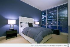 18 Ideas for Blue Contemporary Bedrooms | Home Design Lover