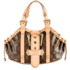 So stylish. A little trendy for my taste,and I prefer larger, shoulder bags but this is too cute! Louis Vuitton Monogram Theda GM Satchel Handbag