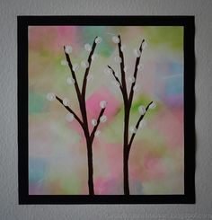 Easy Crafts, Diy And Crafts, Arts And Crafts, Palm Sunday, Spring Art, Easter Crafts For Kids, Art Auction, Flower Crafts, Art Lessons