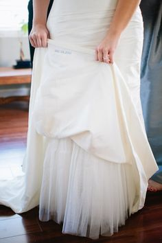 need something blue? stitch the date inside the gown