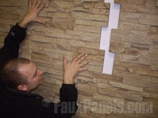 These instructions show how easy it is to use Wellington faux stone panels in DIY projects