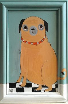 *** Check out the curly tail on the frame!!*** /// Pug art (by oswald flump, via Flickr).