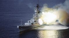USS Missouri Firing Her Big Guns Sounds Out Of This World | World War Wings Videos