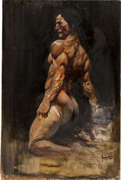 The Black Star by Frank Frazetta Frank Frazetta, Comic Art, Original Paintings, Fantasy Art Men, Vallejo, Fantasy Artwork, Painting, Art, Original Art