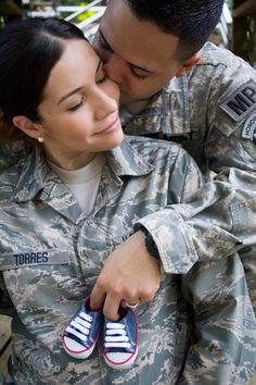Dual military maternity photography. Army & Air Force brat.