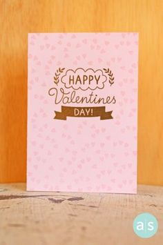 A Muse Studio With love happy valentine's day embossed with gold